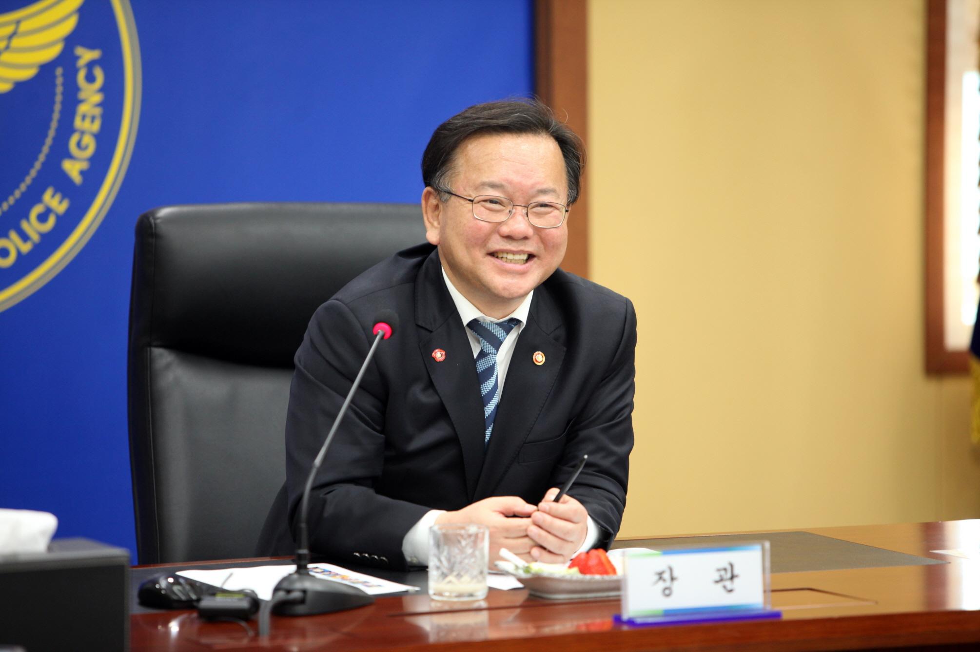 김부겸 행정안전부장관 충남경찰청 방문