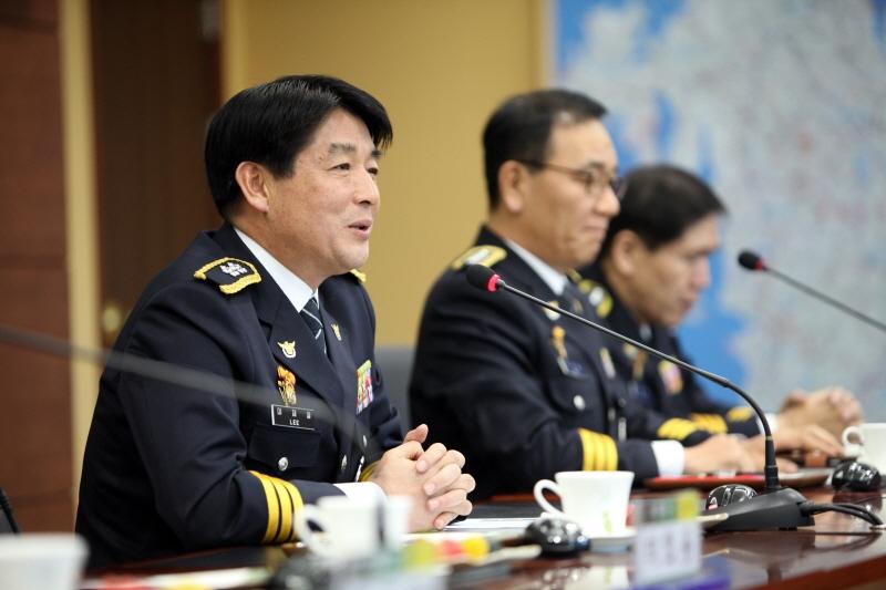 이채열 충남경찰청장이 취임식 당일 유관기관 대표들과 만남