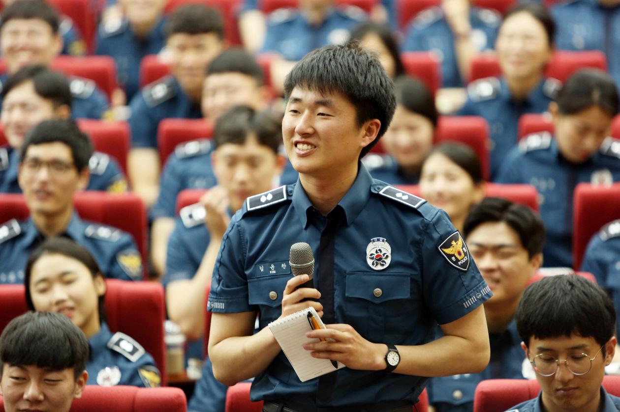 신임 경찰관 296기 - 박재진 충남경찰청장과의 간담회