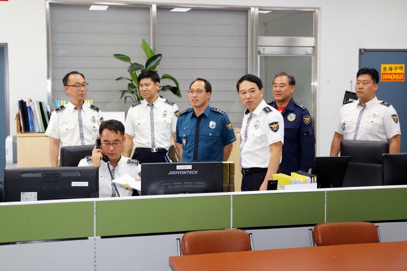 충남경찰청 고순대, 항공대 방문