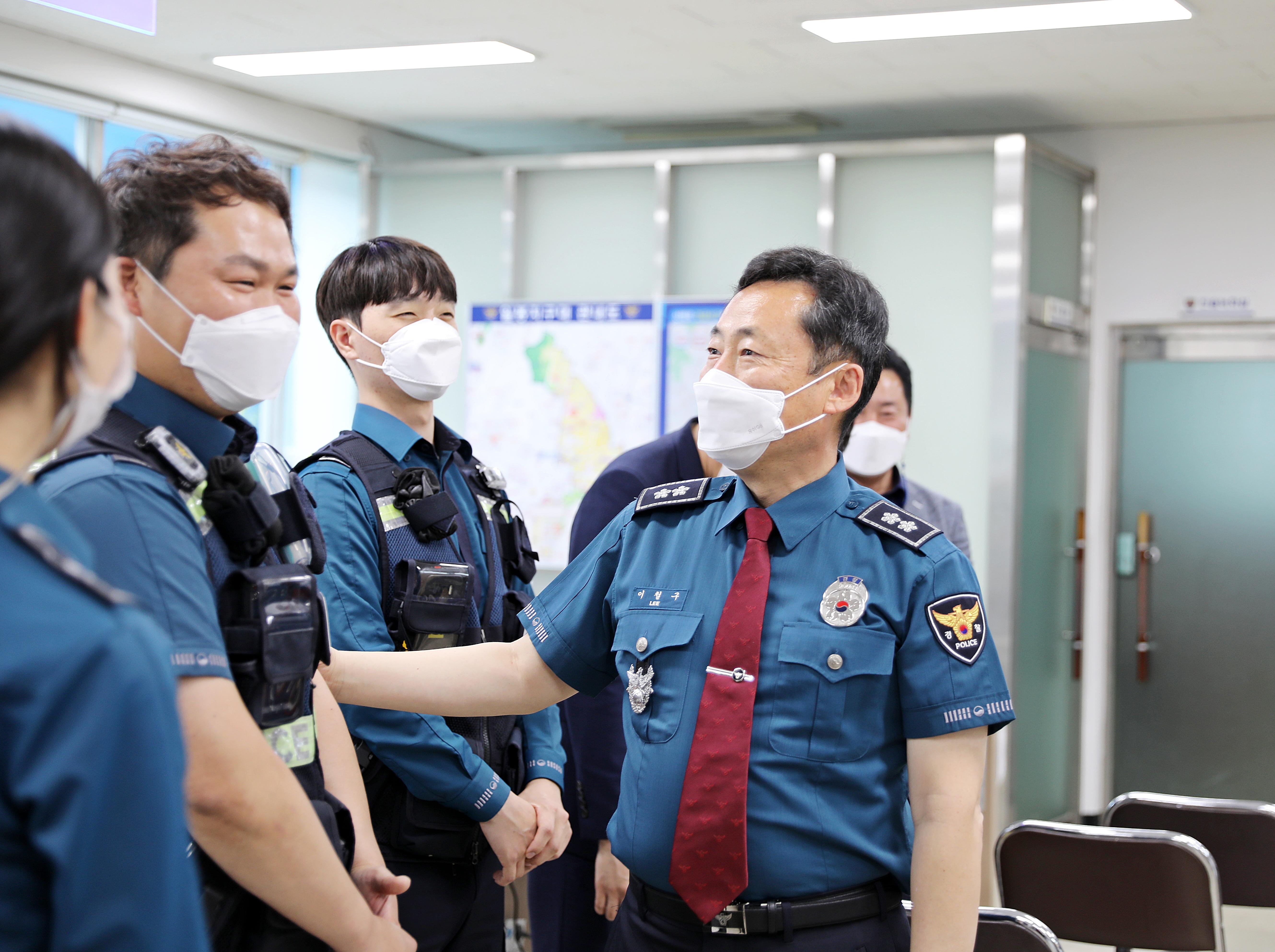 이철구 충남경찰청장 일봉지구대 현장방문!